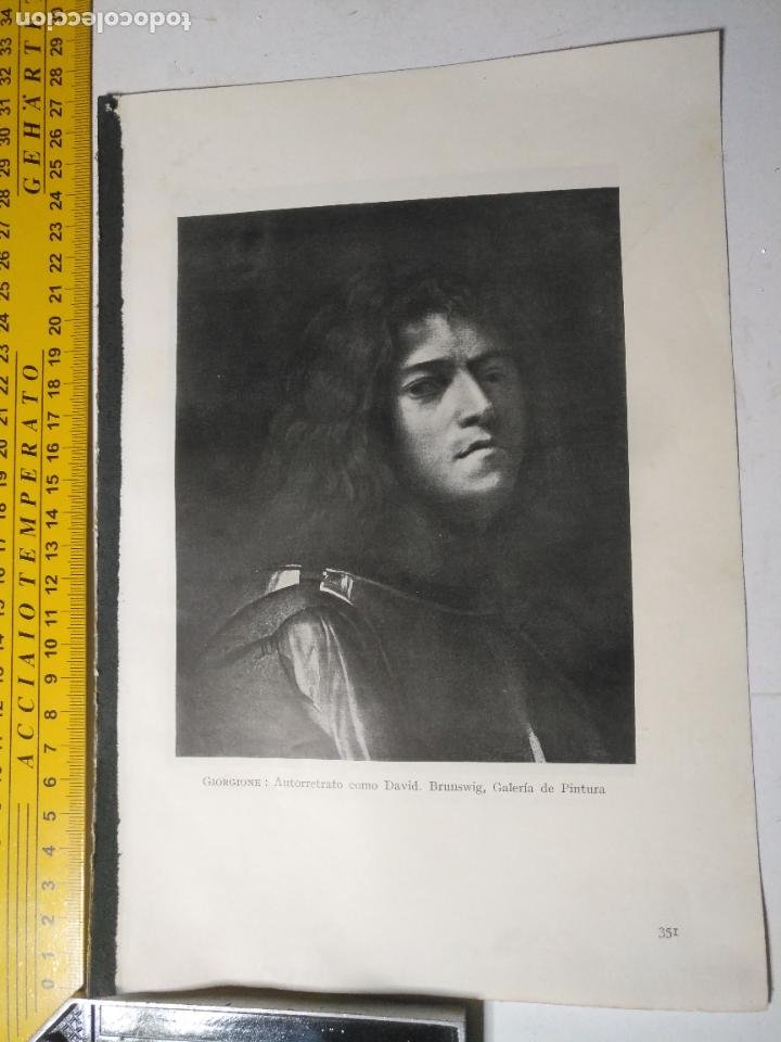 AÑO 1935 - ARTE , AUTORRETRATO COM DAVID (Arte - Huecograbado)
