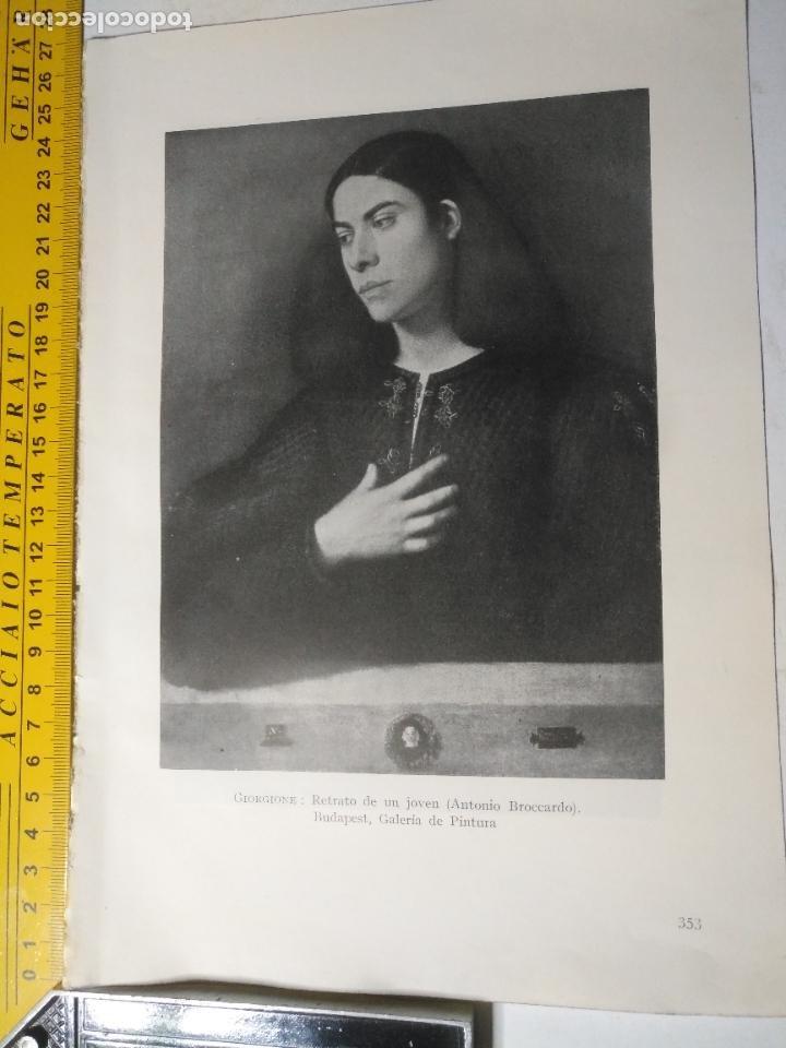 AÑO 1935 - ARTE , RETRATO DE UN JOVEN ANTONIO BROCCARDO (Arte - Huecograbado)