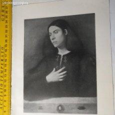 Arte: AÑO 1935 - ARTE , RETRATO DE UN JOVEN ANTONIO BROCCARDO. Lote 223144557