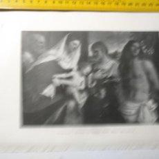 Arte: AÑO 1935 - ARTE RELIGIOSO , VIRGEN CON LOS SANTOS. Lote 223144588