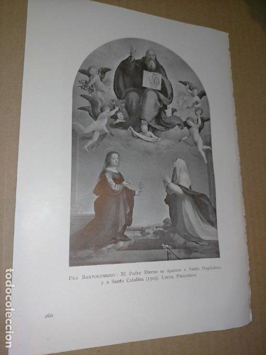 LAMINA HOJA HUECOGRABADO - RELIGIOSO , EL PADRE ETERNO SE APARECE A SANTA MAGDALENA Y CATALINA (Arte - Huecograbado)