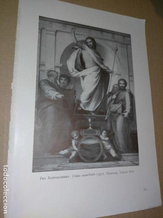 LAMINA HOJA HUECOGRABADO - RELIGIOSO , CRISTO RESUCITADO (Arte - Huecograbado)