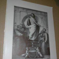 Arte: LAMINA HOJA HUECOGRABADO - RELIGIOSO , CRISTO RESUCITADO. Lote 227595215
