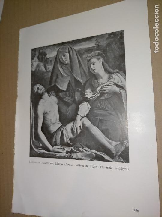 LAMINA HOJA HUECOGRABADO - RELIGIOSO , LLANTO DE LA VIRGEN SOBRE EL CADAVER DE CRISTO (Arte - Huecograbado)
