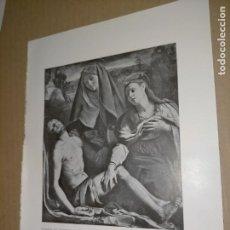 Arte: LAMINA HOJA HUECOGRABADO - RELIGIOSO , LLANTO DE LA VIRGEN SOBRE EL CADAVER DE CRISTO. Lote 227611130