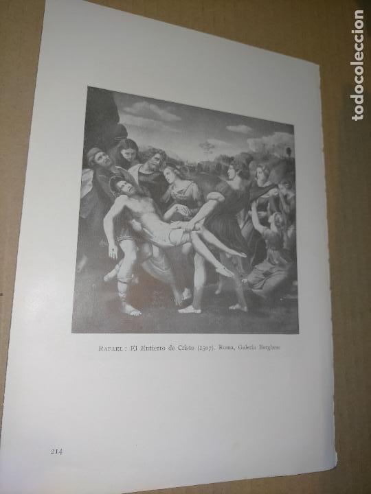 LAMINA HOJA HUECOGRABADO - RELIGIOSO , EL ENTIERRO DE CRISTO (Arte - Huecograbado)