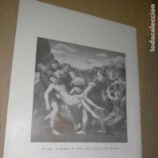 Arte: LAMINA HOJA HUECOGRABADO - RELIGIOSO , EL ENTIERRO DE CRISTO. Lote 227611205