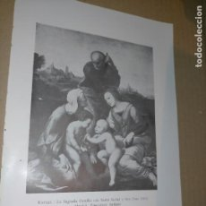 Arte: LAMINA HOJA HUECOGRABADO - RELIGIOSO , LA SAGRADA FAMILIA JUNTO A SANTA ISABLE Y SAN JUAN. Lote 227611285