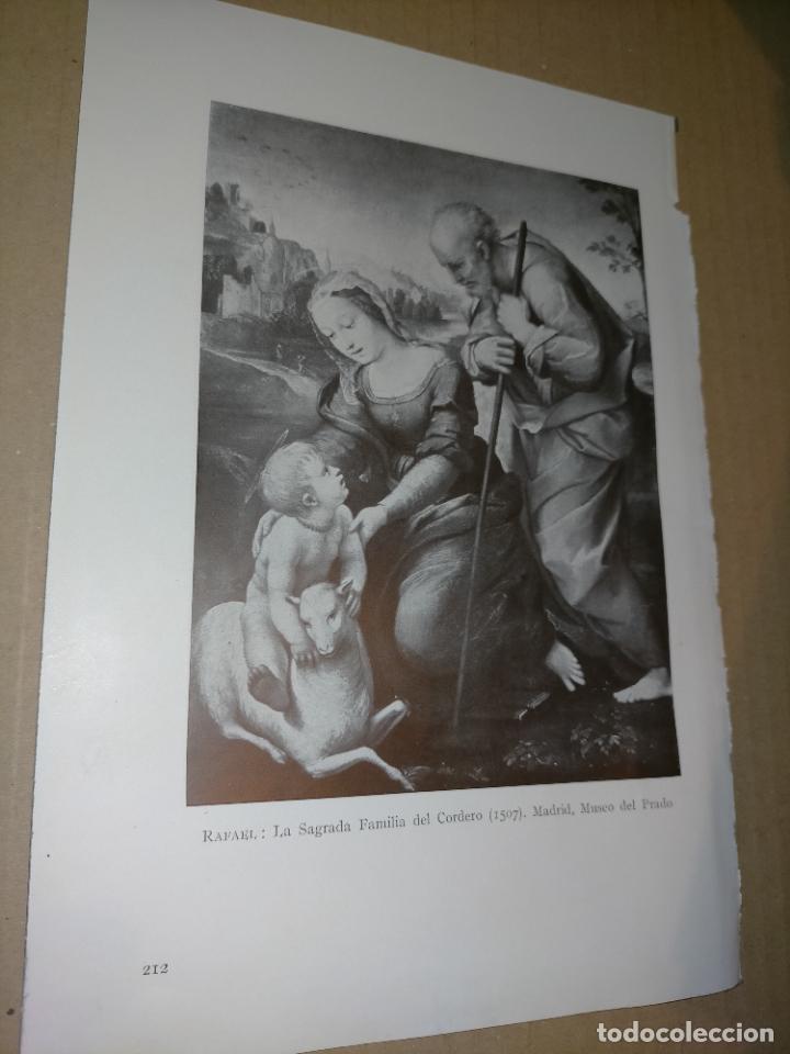 LAMINA HOJA HUECOGRABADO - RELIGIOSO , LA SAGRADA FAMILIA DEL CORDERO (Arte - Huecograbado)