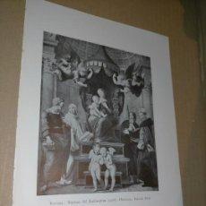 Arte: LAMINA HOJA HUECOGRABADO - RELIGIOSO - LA VIRGEN DEL BALDAQUINO. Lote 227611944