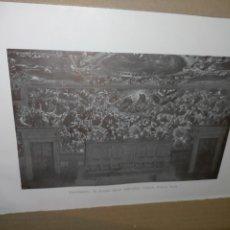 Arte: LAMINA HOJA HUECOGRABADO - RELIGIOSO - EL PARAISO. Lote 227612080