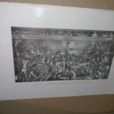 Arte: LAMINA HOJA HUECOGRABADO - RELIGIOSO - LA CRUCIFIXION DE CRISTO. Lote 227612135