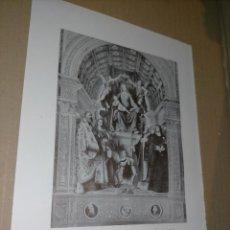 Arte: LAMINA HOJA HUECOGRABADO - RELIGIOSO - VIRGEN EN EL TRONO. Lote 227612435