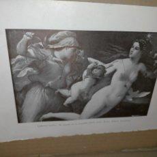 Art: LAMINA HOJA HUECOGRABADO - RELIGIOSO - EL TRIUNFO DE LA CASTIDAD. Lote 227616585