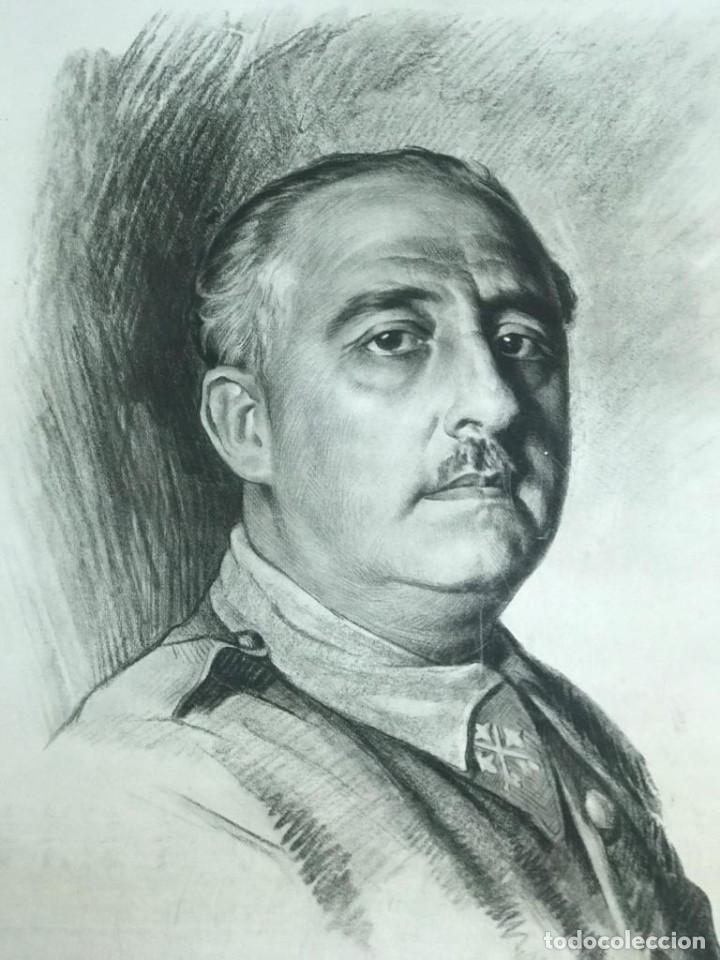RETRATO DE FRANCISCO FRANCO POR ISMAEL BLAT- PRIMEROS HUECOGRABADOS DE HAUSER Y MENET (Arte - Huecograbado)
