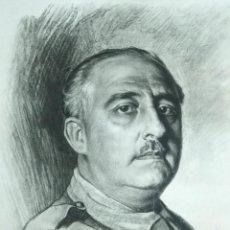 Arte: RETRATO DE FRANCISCO FRANCO POR ISMAEL BLAT- PRIMEROS HUECOGRABADOS DE HAUSER Y MENET. Lote 235363025