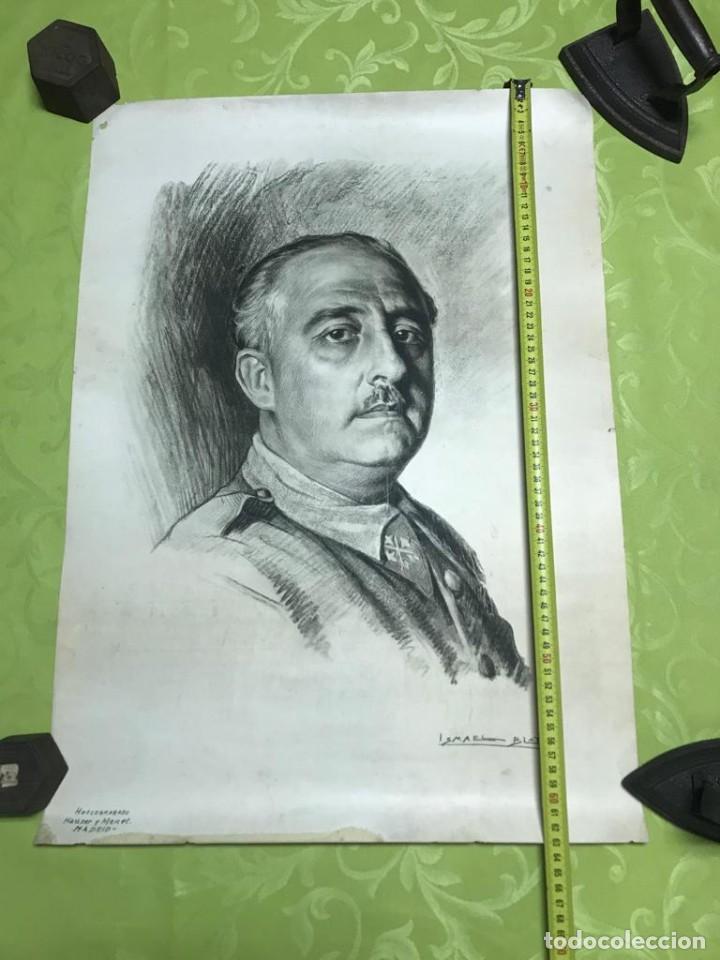 Arte: RETRATO DE FRANCISCO FRANCO POR ISMAEL BLAT- PRIMEROS HUECOGRABADOS DE HAUSER Y MENET - Foto 2 - 235363025