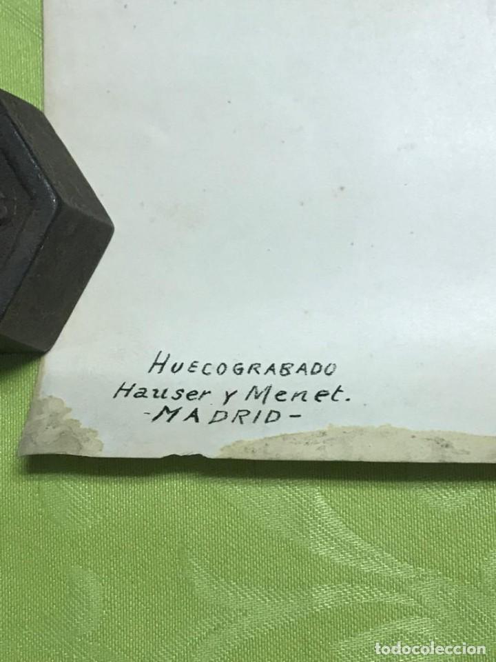 Arte: RETRATO DE FRANCISCO FRANCO POR ISMAEL BLAT- PRIMEROS HUECOGRABADOS DE HAUSER Y MENET - Foto 5 - 235363025