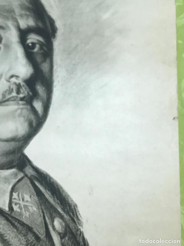 Arte: RETRATO DE FRANCISCO FRANCO POR ISMAEL BLAT- PRIMEROS HUECOGRABADOS DE HAUSER Y MENET - Foto 8 - 235363025