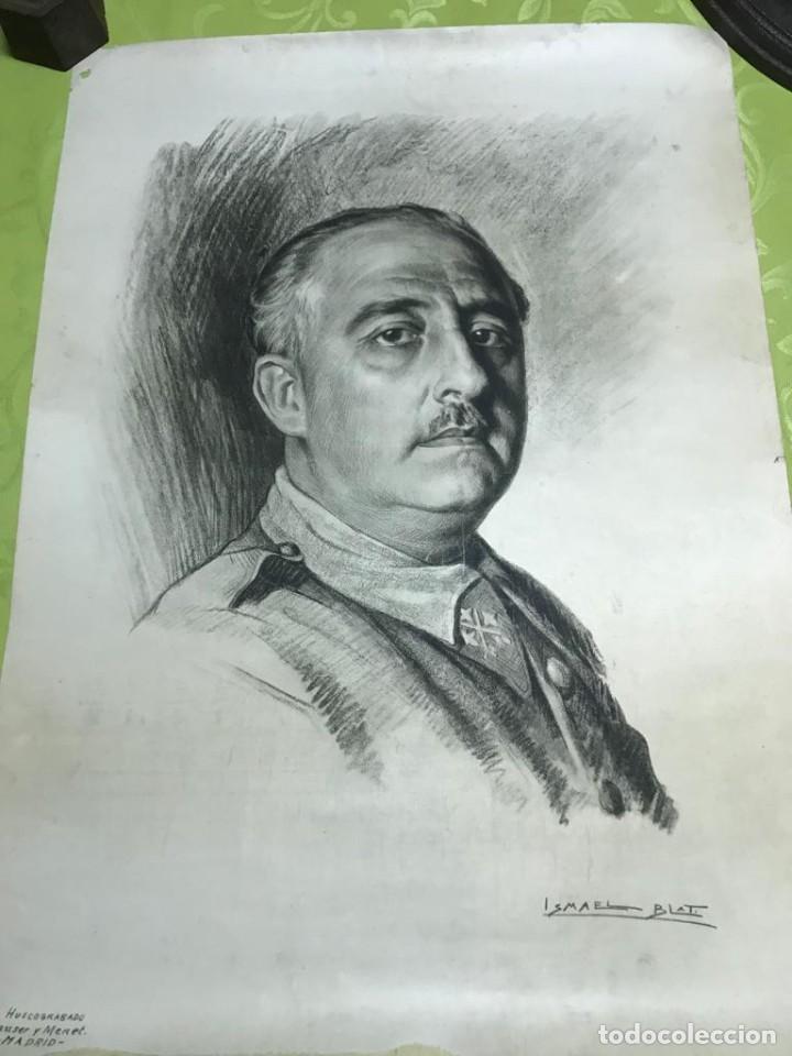 Arte: RETRATO DE FRANCISCO FRANCO POR ISMAEL BLAT- PRIMEROS HUECOGRABADOS DE HAUSER Y MENET - Foto 9 - 235363025