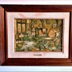 Arte: ANTON PIECK CUADRO TIPO RELIEVE - 50 X 40.CM. Lote 254451130