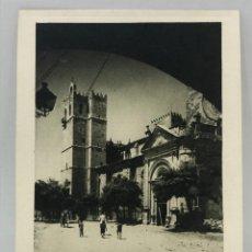 Arte: HUECOGRABADO ARTE BILBAO - TORRE E IGLESIA - 1948. Lote 254943715
