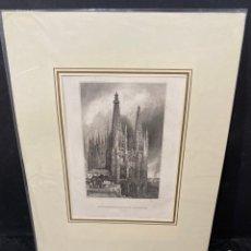 Arte: GRABADO ORIGINAL.CATEDRAL DE BURGOS. CIRCA 1860. Lote 264173152