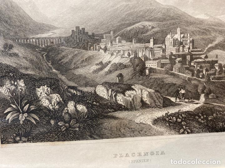 GRABADO ORIGINAL.VISTA DE PLASENCIA. CIRCA 1860 (Arte - Huecograbado)