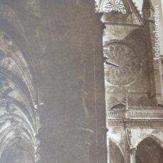 Arte: LEON CATEDRAL CLAUSTRO ANTIGUO HUECOGRABADO 1928. Lote 275564523