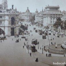 Arte: MADRID CIBELES Y CALLE DE ALCALA ANTIGUO HUECOGRABADO 1928. Lote 275567633