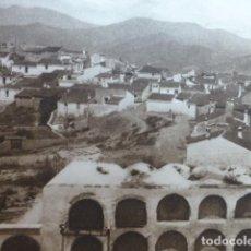 Arte: ALMUÑECAR GRANADA VISTA DESDE EL CASTILLO ANTIGUO HUECOGRABADO 1928. Lote 275578588