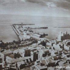 Arte: ALICANTE VISTA DESDE EL CASTILLO DE SANTA BARBARA ANTIGUO HUECOGRABADO 1928. Lote 275580123