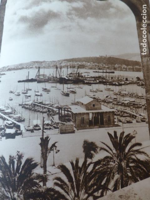PALMA DE MALLORCA VISTA DESDE LA LONJA ANTIGUO HUECOGRABADO 1928 (Arte - Huecograbado)