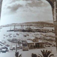 Arte: PALMA DE MALLORCA VISTA DESDE LA LONJA ANTIGUO HUECOGRABADO 1928. Lote 275581903
