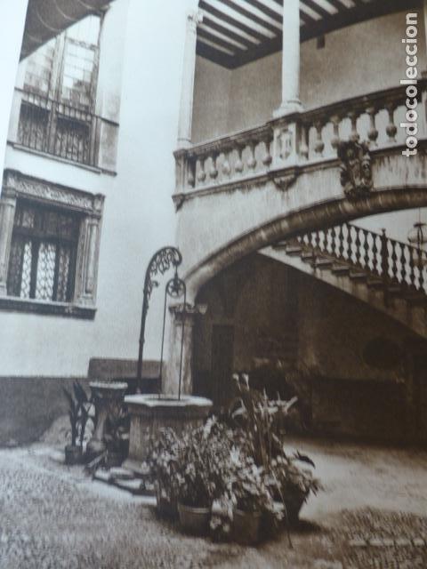 PALMA DE MALLORCA PATIO DE LA CASA OLESA ANTIGUO HUECOGRABADO 1928 (Arte - Huecograbado)