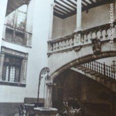 Arte: PALMA DE MALLORCA PATIO DE LA CASA OLESA ANTIGUO HUECOGRABADO 1928. Lote 275581958