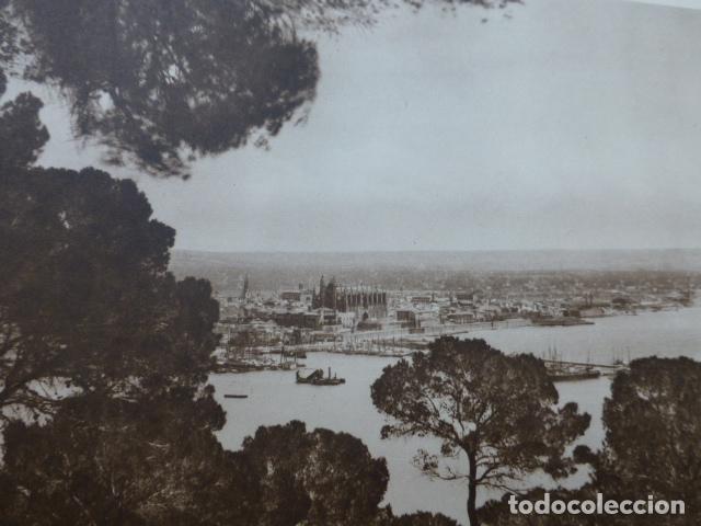 PALMA DE MALLORCA VISTA ANTIGUO HUECOGRABADO 1928 (Arte - Huecograbado)