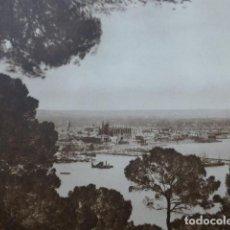 Arte: PALMA DE MALLORCA VISTA ANTIGUO HUECOGRABADO 1928. Lote 275582233