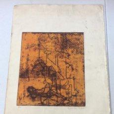 Arte: AGUAFUERTE ORIGINAL,NUMERADA 5/10,FIRMADA C.GUZMAN 1968. Lote 275715888