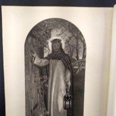 Arte: THE LIGHT OF THE WORLD DE HOLMAN HUNT, THE ART JOURNAL 1891, HUECOGRABADO. Lote 289434263