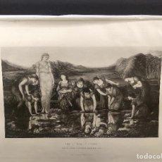 Arte: EL ESPEJO DE VENUS DE EDWARD BURNE JONES, THE ART JOURNAL ANNUAL DE 1891, HUECOGRABADO. Lote 289855203