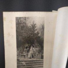 Arte: A PRIOR ATTACHMENT DE MARCUS STONE, THE ART JOURNAL ANNUAL DE 1891, HUECOGRABADO.. Lote 289860533