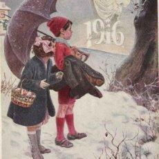 Arte: ALEGORÍA DE AÑO NUEVO / POR N. MÉNDEZ BRINGA - 1916. Lote 20697472