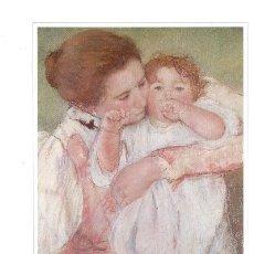 Arte: LAMINA IMPRESIONISTA DE MARY CASSATT = MADRE E HIJO =. Lote 6068908
