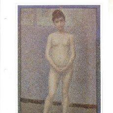 Arte: LAMINA IMPRESIONISTA DE GEORGES SEURAT = MODELO EN PIE Y DE FRENTE =. Lote 6068911