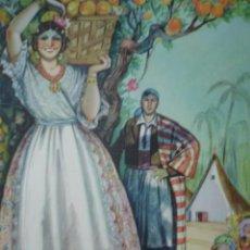 Arte: VALENCIA ENTRE NARANJOS,TRAJES DE ESPAÑA. Lote 11189127