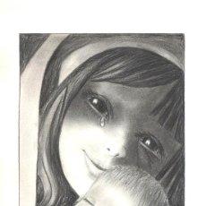 Arte: DIBUJO VIRGEN CON NIÑO. Lote 43894372