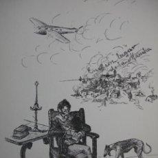 Arte: ALEGORIA DEL QUIJOTE,JOAQUIN GARCIA MARTIN,1951,17X24. Lote 26357526