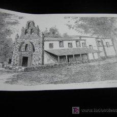 Arte: LAMINA DE LA ERMITA DE NTRA SRA DEL CARBAYU -LLANGREU-FIRMADA POR ISMAEL DOMINGUEZ ALONSO. Lote 8420824