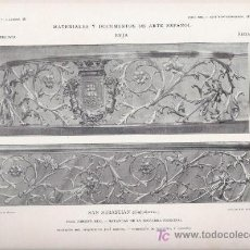 Arte: AUTOTIPIA ORIGINAL DE 1905. SAN SEBASTIAN. CASA CONSISTORIAL. BARANDAS ESCALERA. JOSE GOICOA.. Lote 25994159